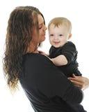 Giovane mamma fiera con il figlio Fotografia Stock
