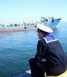 Giovane marinaio fotografie stock