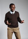 Giovane maschio dell'afroamericano Fotografie Stock Libere da Diritti