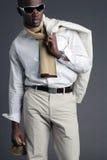 Giovane maschio dell'afroamericano Fotografia Stock Libera da Diritti