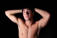 Giovane maschio senza camicia Fotografia Stock Libera da Diritti