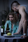 Giovane matrimonio con i problemi Fotografia Stock