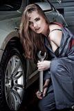 Giovane meccanico femal Fotografia Stock Libera da Diritti
