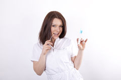 Giovane medico attraente della donna Fotografie Stock