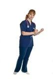 Giovane medico femminile con lo stetoscopio Immagine Stock