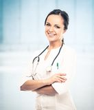 Giovane medico positivo Fotografia Stock Libera da Diritti