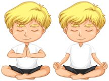 Giovane meditare biondo del ragazzo royalty illustrazione gratis