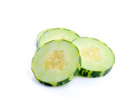 Giovane melone su backgroun bianco Immagine Stock Libera da Diritti