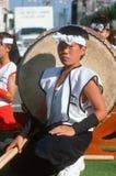 Giovane membro del tamburo corp Fotografia Stock Libera da Diritti
