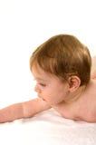 Giovane menzogne sveglia del bambino Fotografia Stock