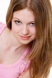 Giovane modello attraente con capelli lunghi fotografie stock