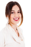 Giovane modello sorridente del brunette Immagine Stock