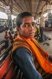 Giovane monaco povero Fotografie Stock