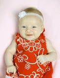 Giovane neonata sveglia Immagini Stock Libere da Diritti