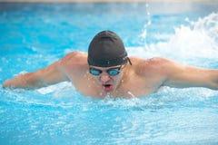 Giovane nuotatore adulto immagine stock