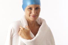 Giovane nuotatore femminile Immagine Stock