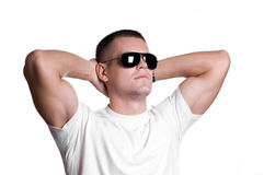 Giovane in occhiali da sole Fotografia Stock Libera da Diritti