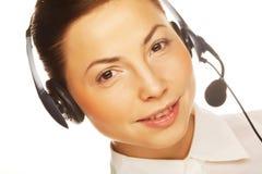 Giovane operatore sicuro della donna di affari Fotografia Stock Libera da Diritti