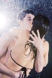 Giovane passione sexy delle coppie Immagini Stock
