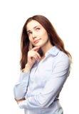 Giovane pensiero della donna di affari Fotografia Stock