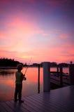 Giovane pesca del ragazzo Immagine Stock