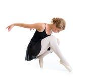 Giovane posa del ballerino isolata Fotografia Stock Libera da Diritti