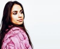 Giovane posa emozionale sorridente felice dell'adolescente dell'America latina Fotografie Stock