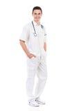 Giovane posa maschio dell'infermiere Fotografia Stock Libera da Diritti
