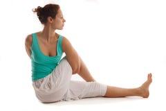Giovane pratica reale dell'istruttore di yoga Fotografia Stock