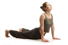 Giovane pratica reale dell'istruttore di yoga Fotografie Stock Libere da Diritti