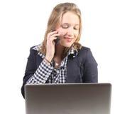 Giovane professionista sul telefono Immagini Stock Libere da Diritti