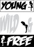 Giovane progettazione selvaggia & libera del fondo Immagini Stock Libere da Diritti