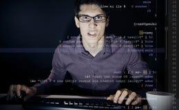Giovane programmatore frustrato fotografia stock