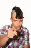 Giovane punk aggressivo. Fotografia Stock