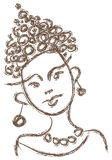 Giovane ragazza africana Immagine Stock Libera da Diritti
