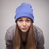 Giovane ragazza arrabbiata Fotografia Stock