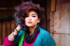 Giovane ragazza asiatica attraente Fotografie Stock Libere da Diritti