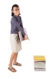 Giovane ragazza asiatica con i libri I Immagine Stock Libera da Diritti