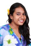 Giovane ragazza asiatica con un sorriso piacevole. Fotografie Stock Libere da Diritti