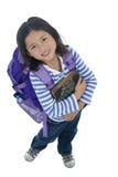 Giovane ragazza asiatica del banco Fotografia Stock