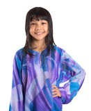 Giovane ragazza asiatica in vestito tradizionale malese IX Fotografia Stock