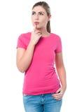 Giovane ragazza caucasica premurosa Fotografia Stock Libera da Diritti