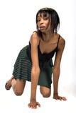 Giovane ragazza dell'afroamericano Immagine Stock