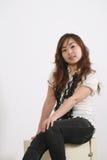Giovane ragazza dell'Asia Fotografia Stock