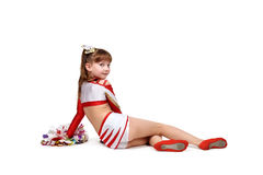 Giovane ragazza della ragazza pon pon Immagine Stock