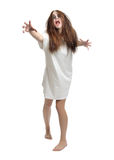 Giovane ragazza delle zombie isolata fotografia stock