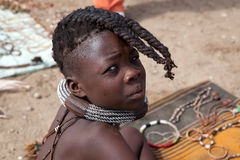 Giovane ragazza di Himba Fotografie Stock