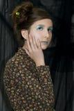 Giovane ragazza di modo con trucco speciale Fotografie Stock Libere da Diritti