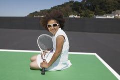 Giovane ragazza di tennis Immagini Stock