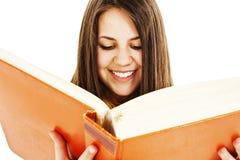 Giovane ragazza graziosa con i libri Fotografia Stock